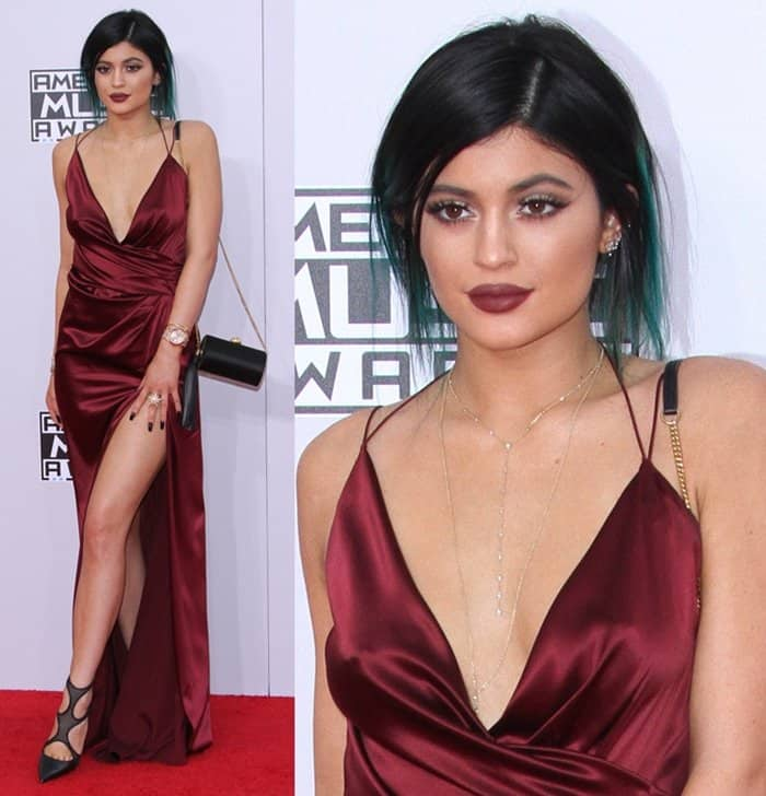 Kylie Jenner at the 2014 American Music Awards held at Nokia Theatre in Los Angeles on November 23, 2014