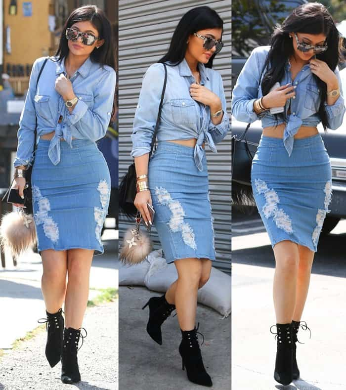 Kylie Jenner spotted outside Fred Segal in West Hollywood on March 31, 2015