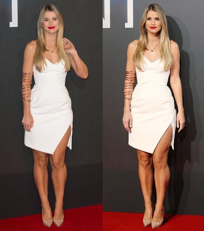 Vogue Williams shows how to look sexy yet classy in a little white dress