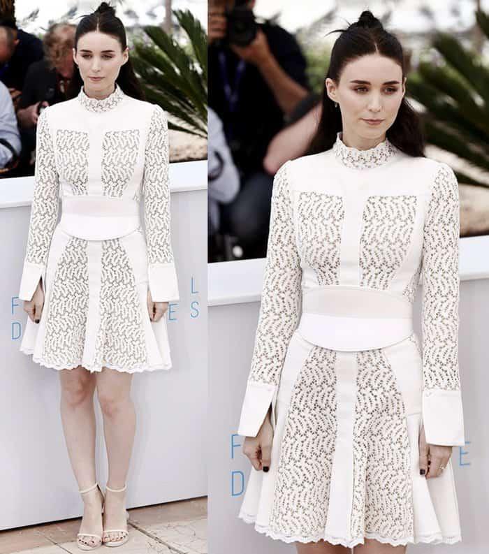 Rooney Mara flaunted her legs in a gorgeous Alexander McQueen dress