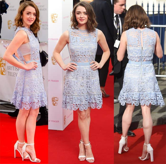 Maisie Williams at the House of Fraser British Academy Television Awards (TV BAFTA) in London on May 11, 2015