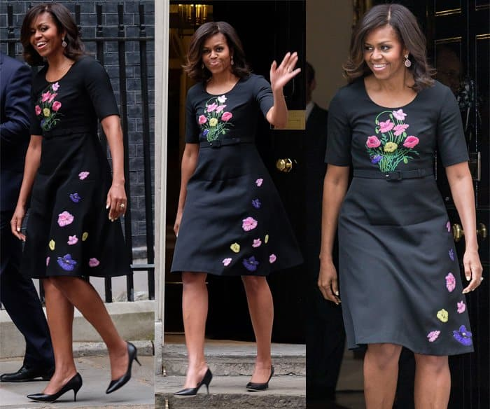 d538720ef6bf Michelle Obama has tea with the Camerons as part of her UK visit in London  on June 16