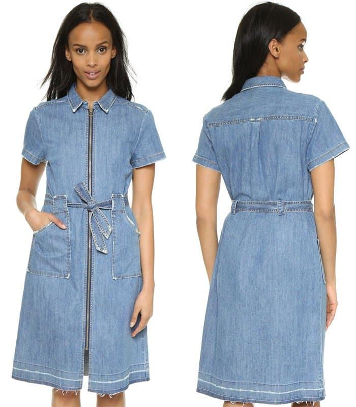 Sea Zip Up 2 Pocket Dress