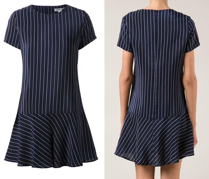 Amour Vert Striped Dropped Waist Dress
