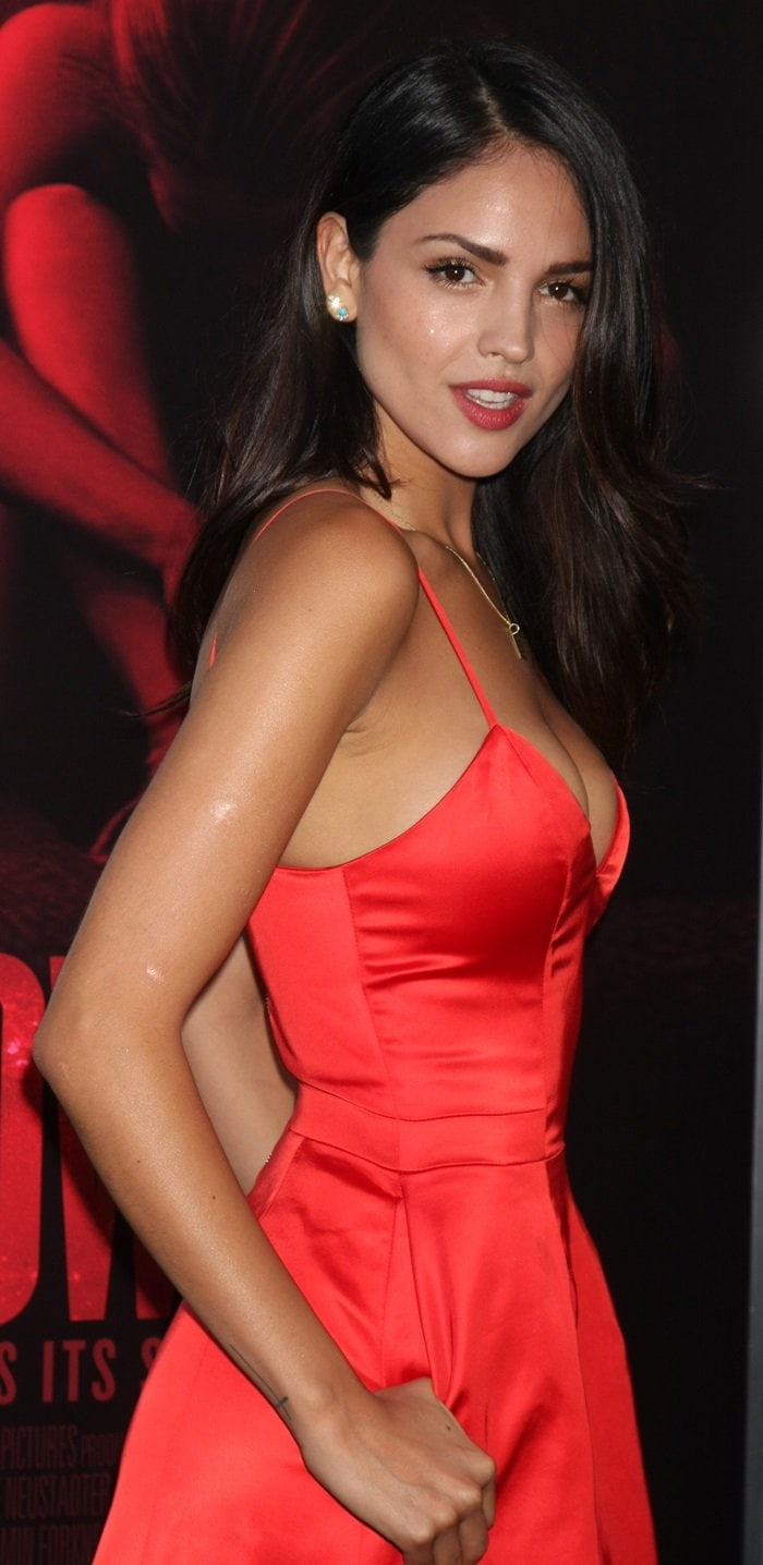 """Eiza Gonzalez at the premiere of """"The Gallows"""" at Hollywood High School in California on July 7, 2015"""