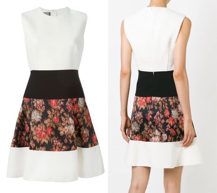 Giambattista Valli Floral Panel Sleeveless Dress