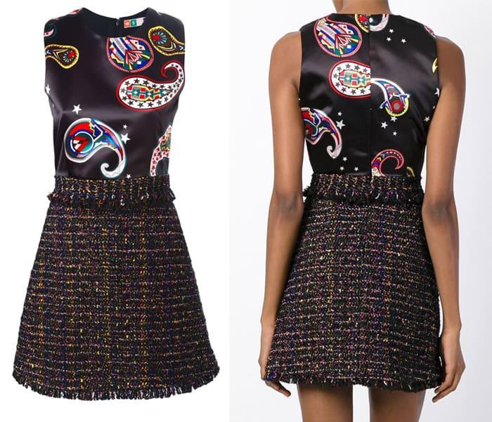 MSGM Tweed and Paisley Dress