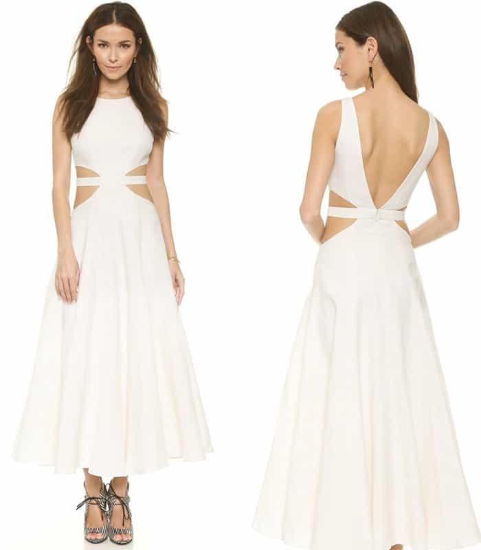 Mara Hoffman Linen Cutout Maxi Dress