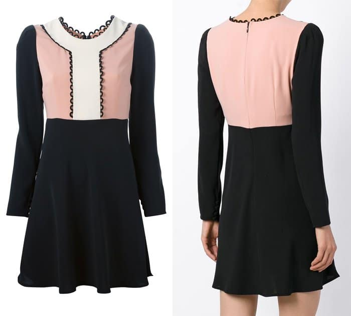 RED Valentino Scalloped Detail Dress