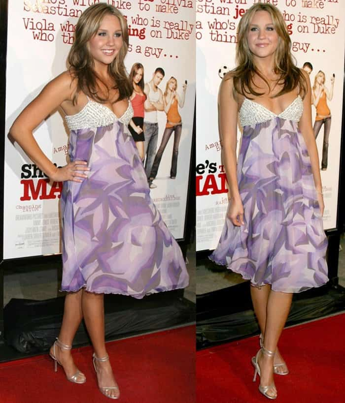 Amanda Bynes at the premiere of She's the Man held at Mann Village Theatre in Los Angeles on March 8, 2006