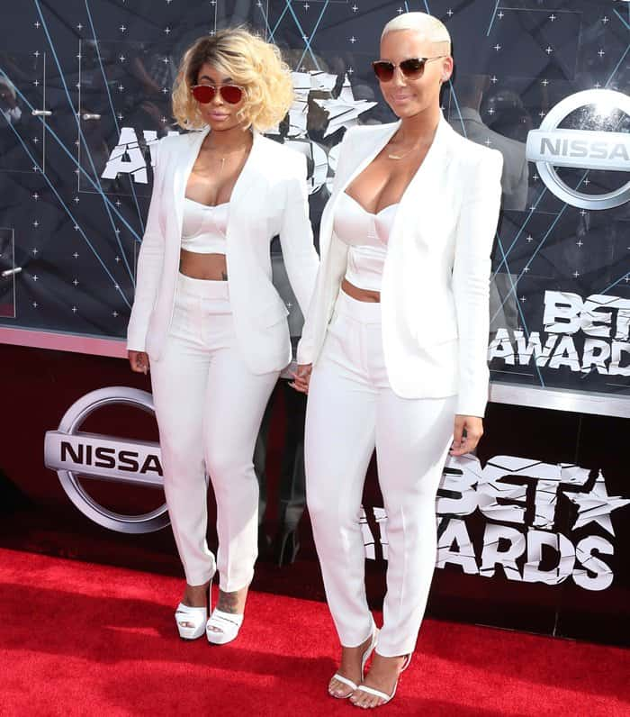 Blac Chyna with Amber Rose at the 2015 BET Awards at the Microsoft Theater in Los Angeles on June 28, 2015