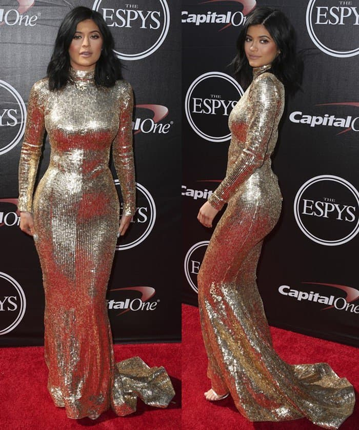 Kylie Jenner at The 2015 ESPY Awards held at The Microsoft Theater in Los Angeles on July 15, 2015