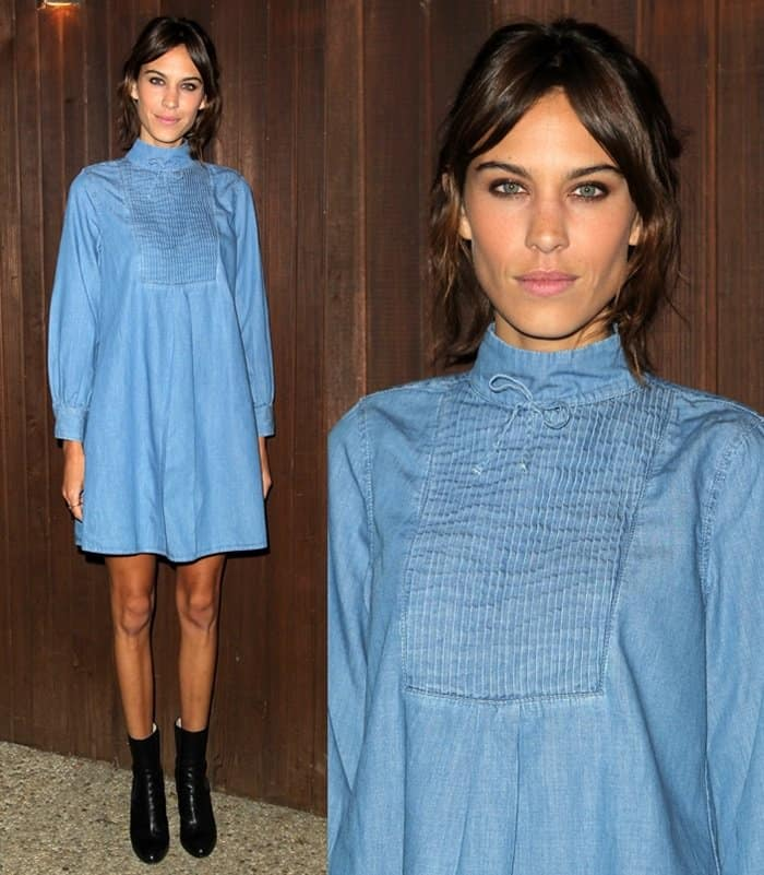 Alexa Chung x AG Collection Los Angeles Launch Party in Beverly Hills.