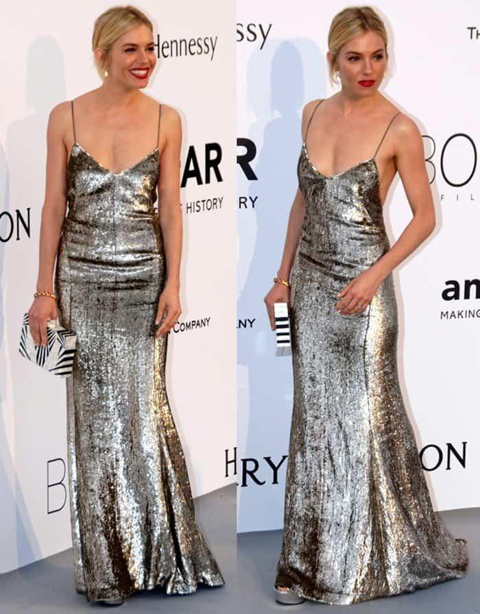 Sienna Miller at the 68th Cannes Film Festival (amfAR's Cinema Against Aids Gala) held at Hotel du Cap-Eden-Roc in France.