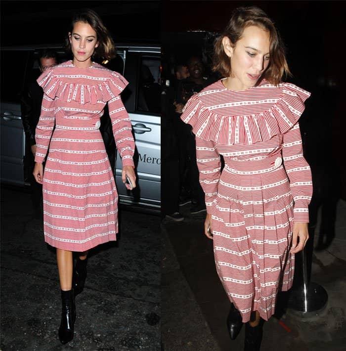 Alexa Chung Looks Vintage-Chic in Miu Miu Dress