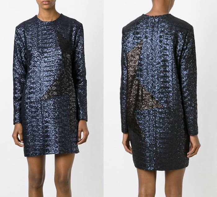 MSGM Contrasting Star Sequin Dress