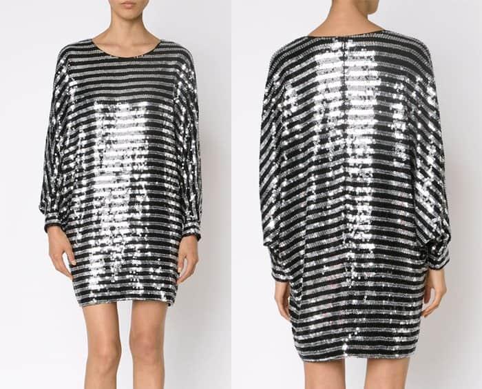 Saint Laurent Sequin Shift Dress