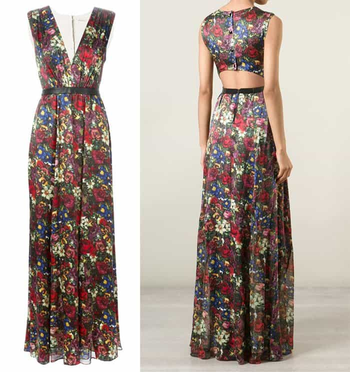 Alice + Olivia Triss Floral Print Dress