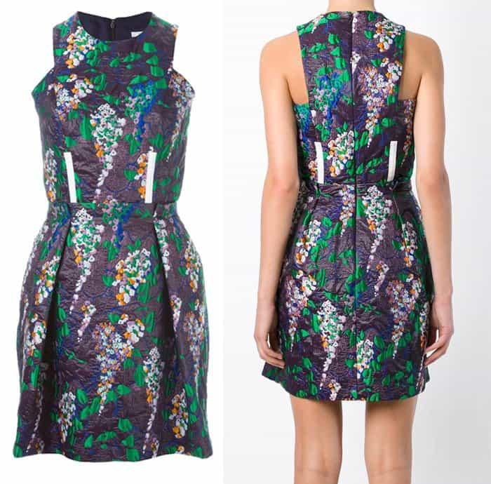Carven Floral Brocade Dress