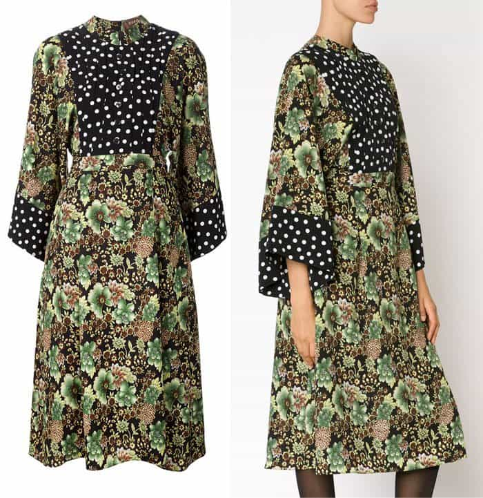 Duro Olowu Contrasting Prints Flared Dress