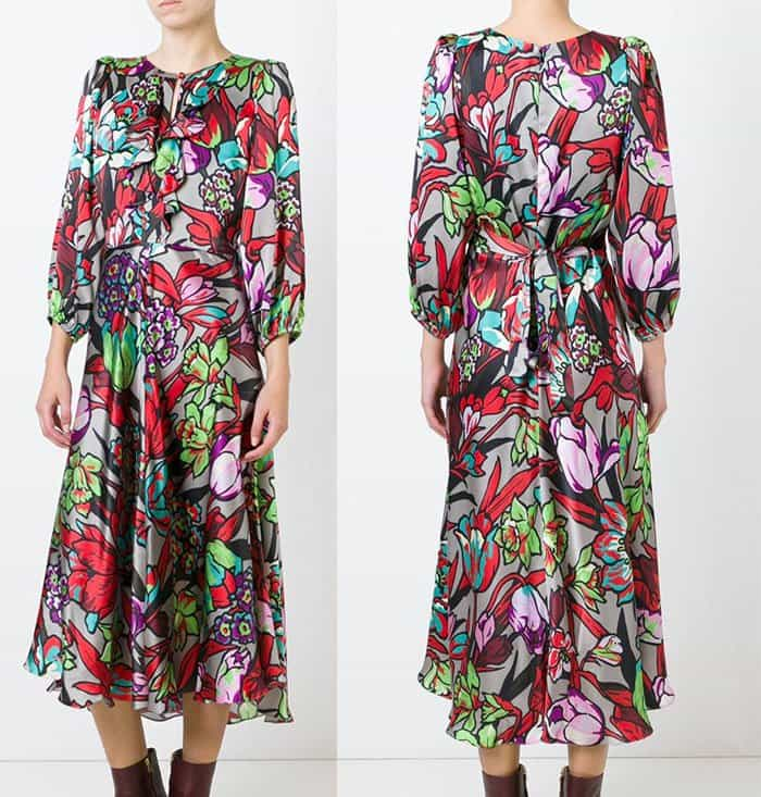 Duro Olowu Floral Print Flared Dress