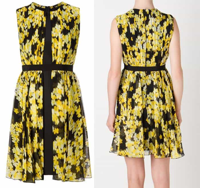 Giambattista Valli Printed Pleated Dress