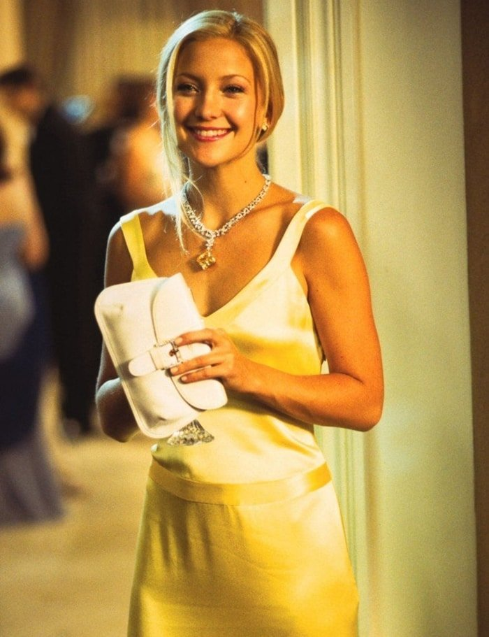 Kate Hudson as Andie Anderson in the gorgeous yellow gown by fashion designer Dina Bar-el