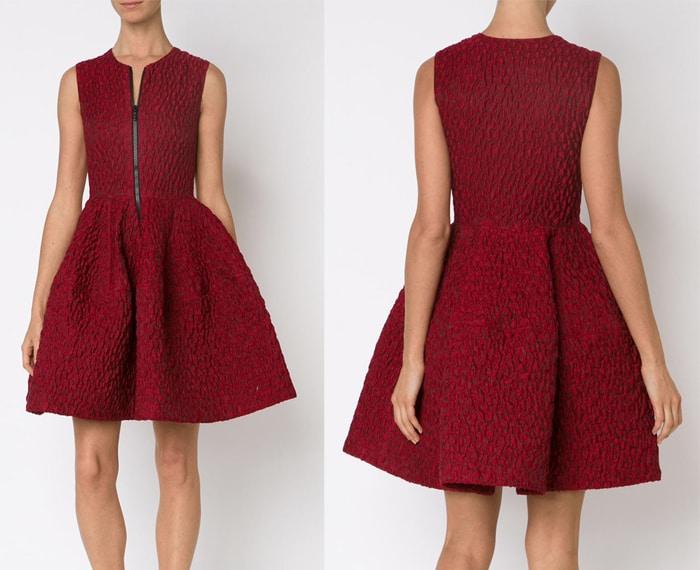 Jour Ne Voluminous Cloque Dress