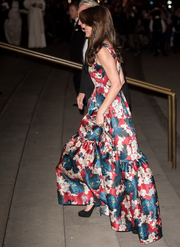 Kate Middleton's floor-grazing floral gown from Erdem
