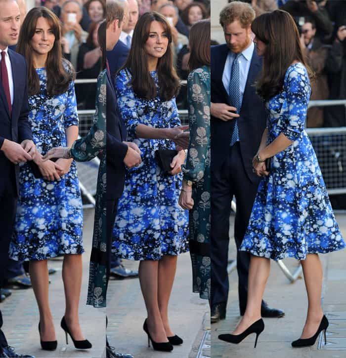 Kate Middleton looked super stylish in a space-themed Tabitha Webb dress