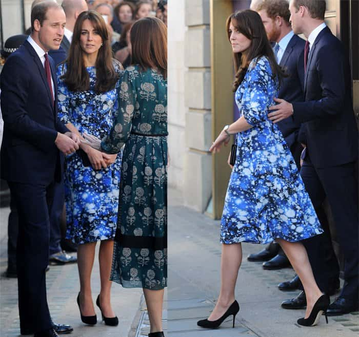 Duke and Duchess of Cambridge and Prince Harry leave BAFTA on Piccadilly after attending a Children's Charity in London