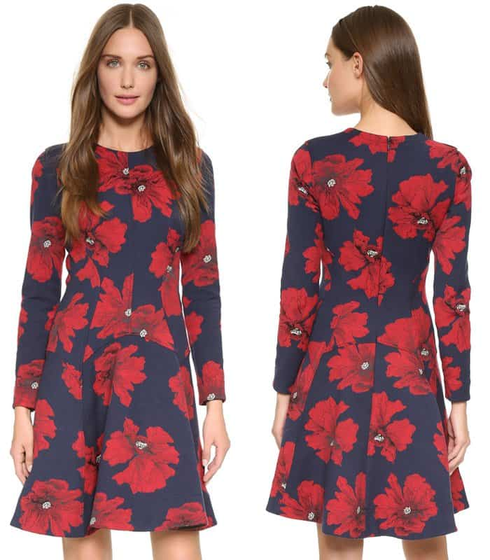Lela Rose Tailored Flare Dress