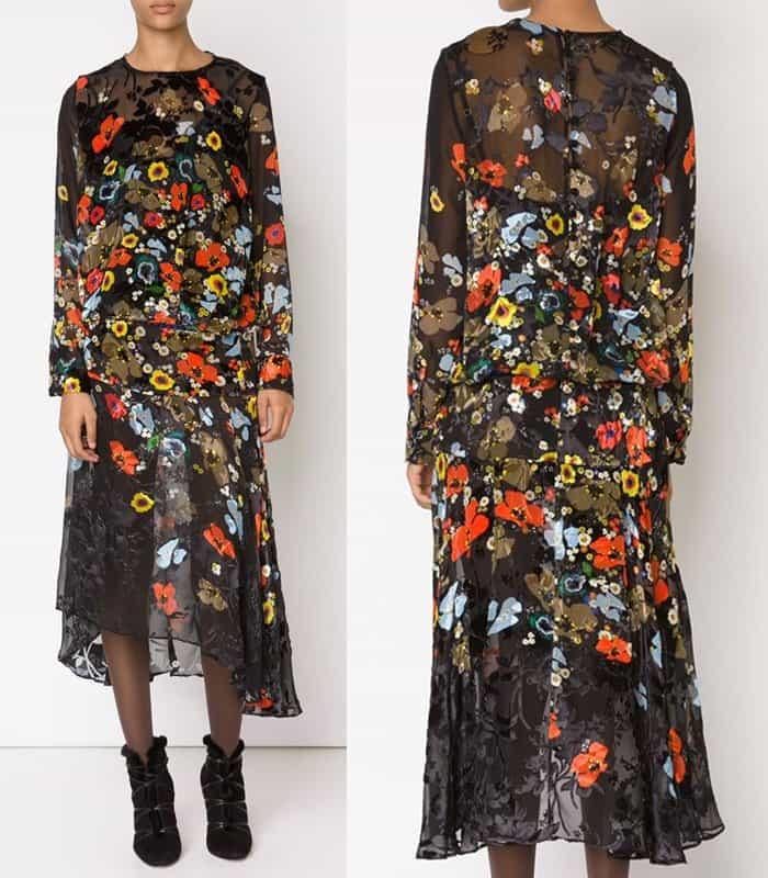 Preen by Thornton Bregazzi Poppy Flowers Print Dress