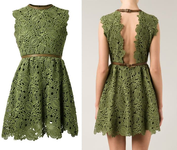Valentino Leaf Lace Dress