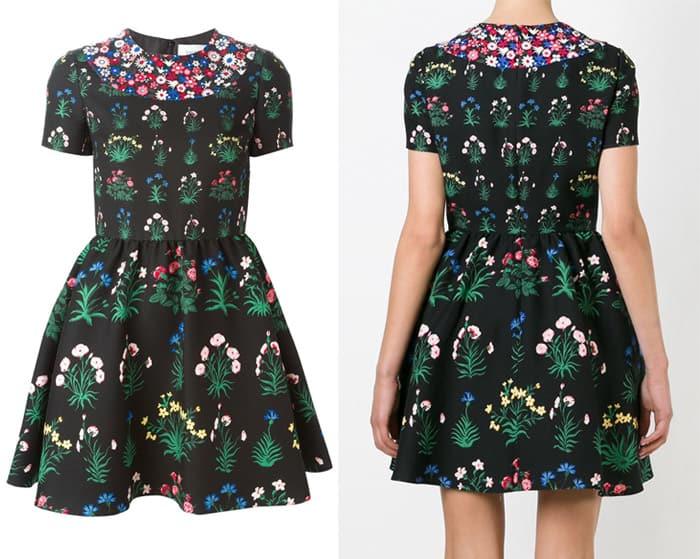 Valentino Primavera Print Mini Dress