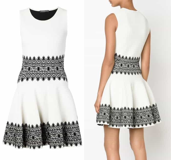 Alexander McQueen Lace Circle Jacquard Mini Dress