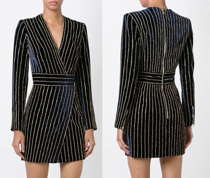 Balmain Velvet Dress