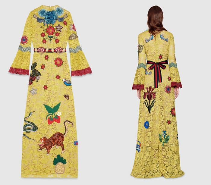Gucci Lace Embroidered Gown