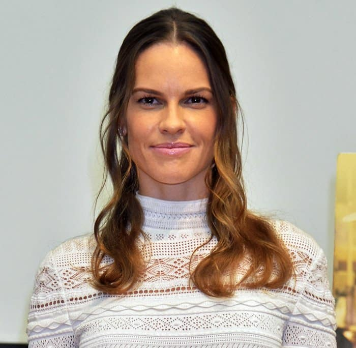Hilary Swank during the 'You're Not You' press conference at the 28th Tokyo International Film Festival
