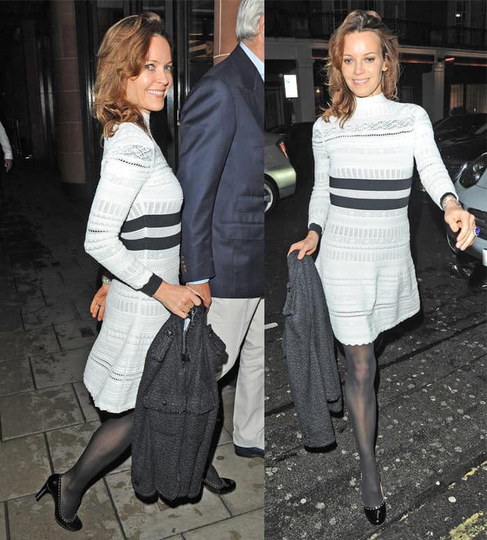 Kim Frickleton at C London having dinner with her husband in London on November 5, 2015