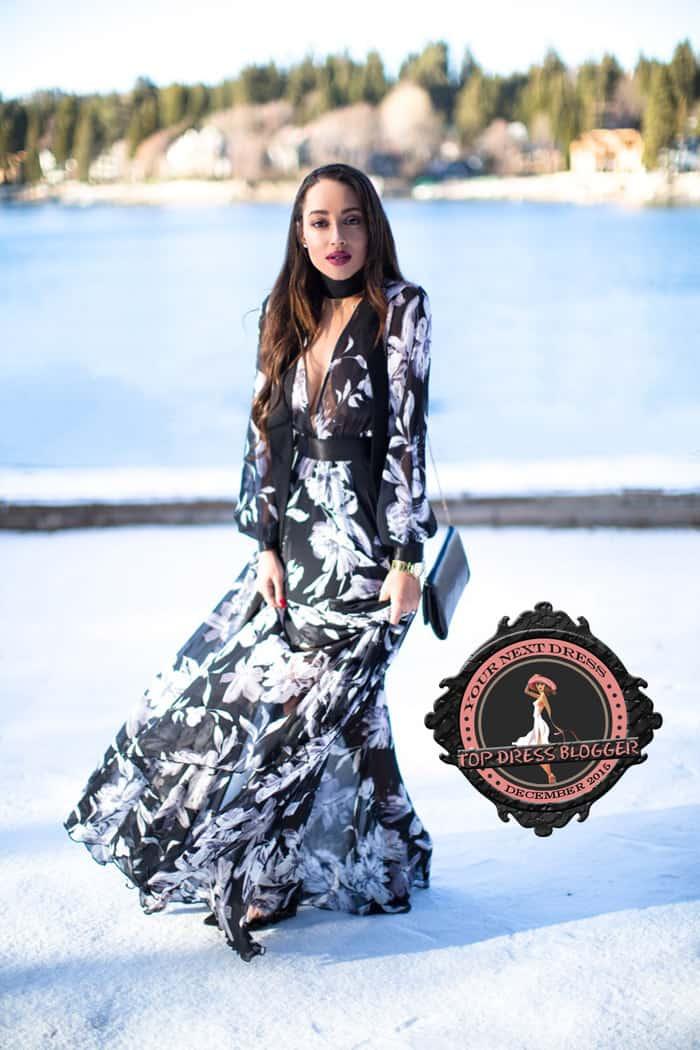 Elizabeth channels snow princess in a sheer maxi dress