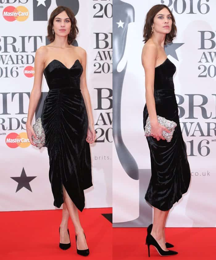 Alexa Chung The Brit Awards 2016