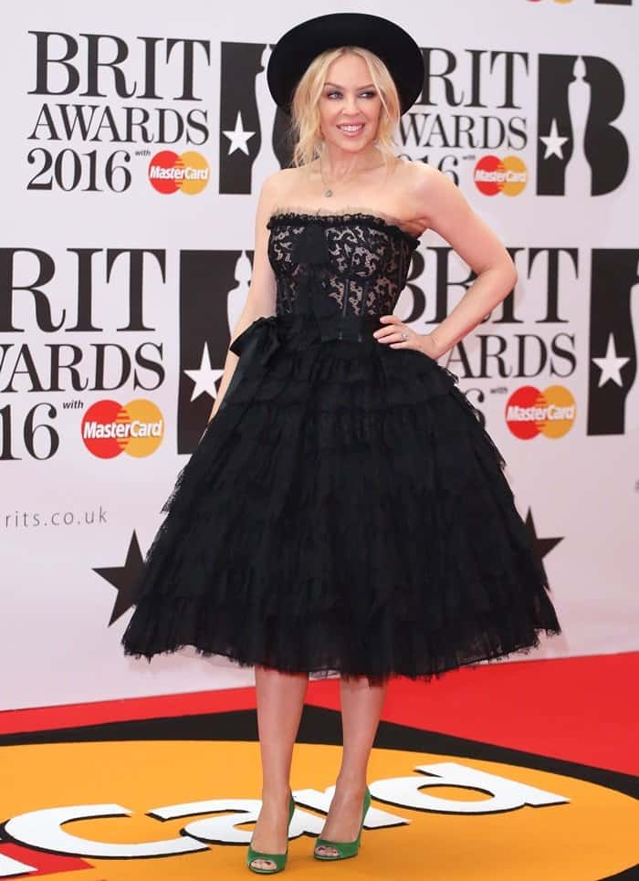 Kylie Minogue The Brit Awards 2016