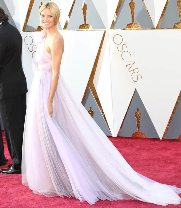 Heidi Klum channeled the fairy godmother on the Oscars red carpet