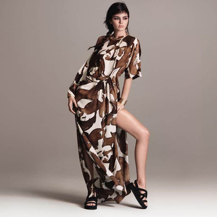 Kendall Jenner Tribal Maxi Dress