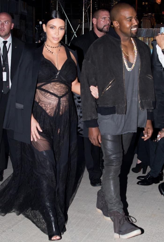 Kim Kardashian Sheer Black Dress
