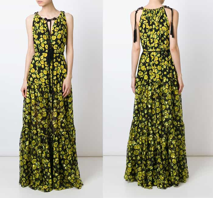 Lanvin Floral Print Evening Dress