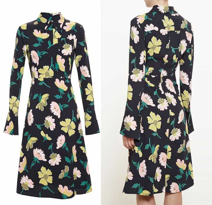 Marni Floral Crepe Dress