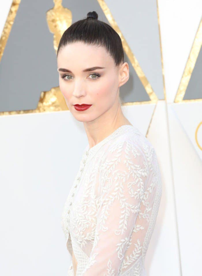 Rooney mara givenchy gown academy awards 2016