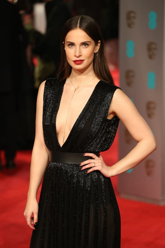 Heida Reed Nicholas Oakwell sheer black gown BAFTAs 2